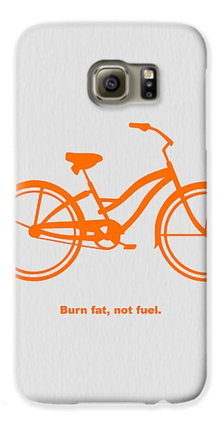 Burn Fat Not Fuel Galaxy S6 Case by Naxart Studio