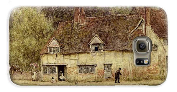 By The Old Cottage Galaxy S6 Case by Helen Allingham