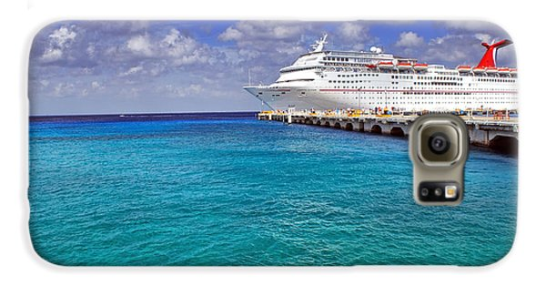 Carnival Elation Docked At Cozumel Galaxy S6 Case