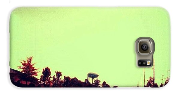 Edit Galaxy S6 Case - #cary #driving #sky #red #watertower by Katie Williams