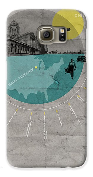 Grant Park Galaxy S6 Case - Chicago Poster by Naxart Studio