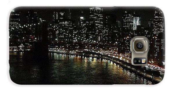 Light Galaxy S6 Case - City Lights - New York by Joel Lopez