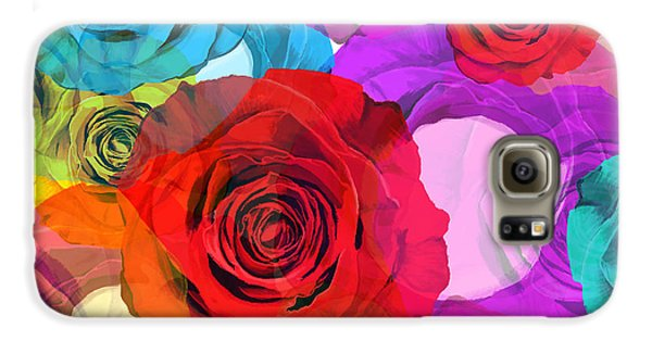 Rose Galaxy S6 Case - Colorful Floral Design  by Setsiri Silapasuwanchai