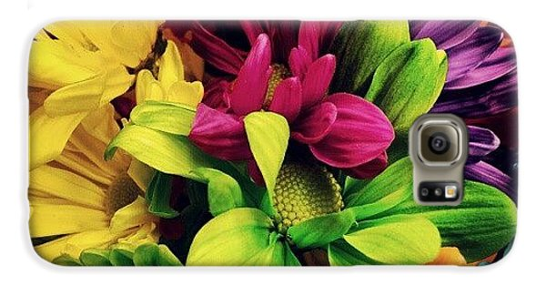 Colorful Galaxy S6 Case - #colorful #flowers by Mandy Shupp