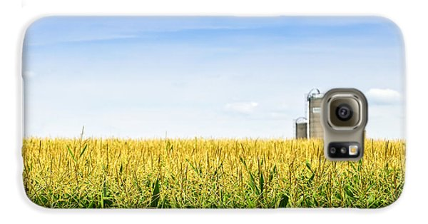 Corn Field With Silos Galaxy S6 Case by Elena Elisseeva