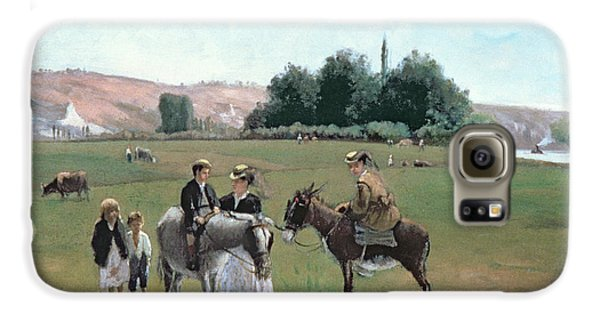 Donkey Ride Galaxy S6 Case by Camille Pissarro