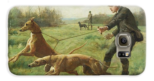 Boy George Galaxy S6 Case - Exercising Greyhounds by George Goodwin Kilburne