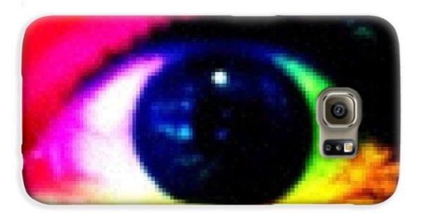 Bright Galaxy S6 Case - Eye by Lea Ward