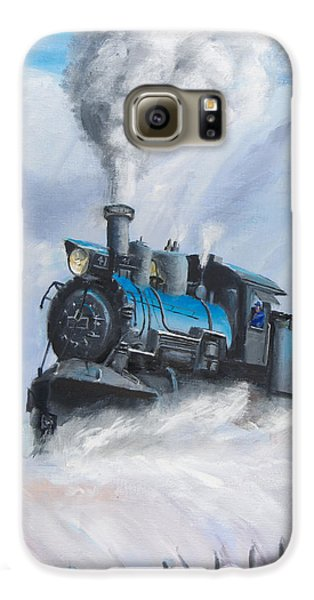 Train Galaxy S6 Case - First Train Through by Christopher Jenkins