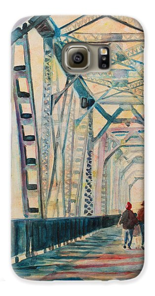 Foggy Morning On The Railway Bridge IIi Galaxy S6 Case by Jenny Armitage