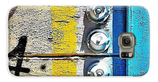 Blue Galaxy S6 Case - Four Doorbells by Julie Gebhardt