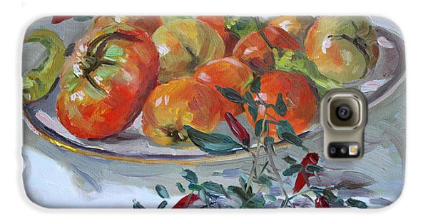 Tomato Galaxy S6 Case - Fresh From The Garden by Ylli Haruni