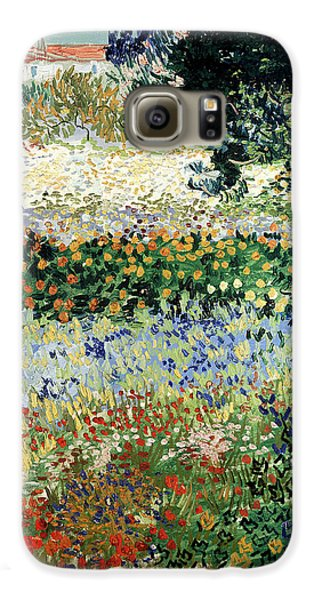 Garden Galaxy S6 Case - Garden In Bloom by Vincent Van Gogh