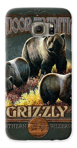 Grizzly Bear Galaxy S6 Case - Grizzly Traditions by JQ Licensing