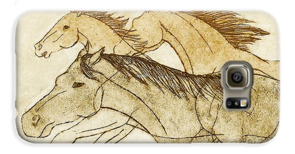 Galaxy S6 Case featuring the drawing Horse Sketch by Nareeta Martin
