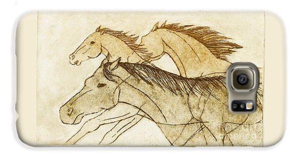 Horse Sketch Galaxy S6 Case by Nareeta Martin