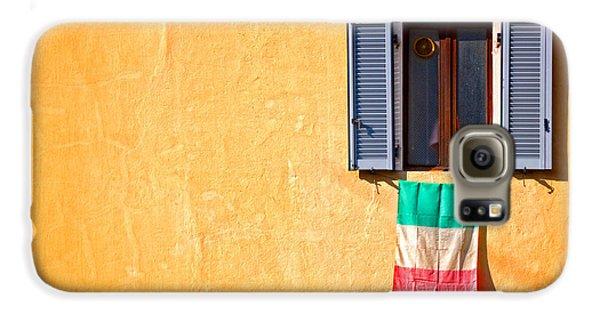 Italian Flag Window And Yellow Wall Galaxy S6 Case