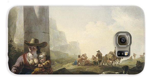 Italian Peasants Among Ruins Galaxy S6 Case by Jan Weenix