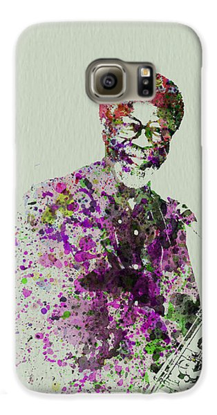 Saxophone Galaxy S6 Case - Joe Henderson Watercolor  by Naxart Studio