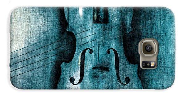 Violin Galaxy S6 Case - Le Violon Bleu by Hakon Soreide