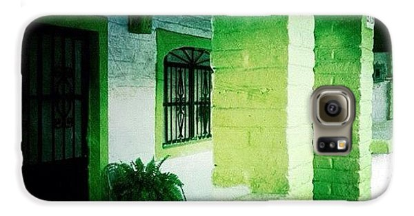 Colorful Galaxy S6 Case - Lime Green & White House (puerto by Natasha Marco