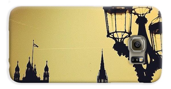 London Galaxy S6 Case - #london #westminster #londoneye #siluet by Ozan Goren
