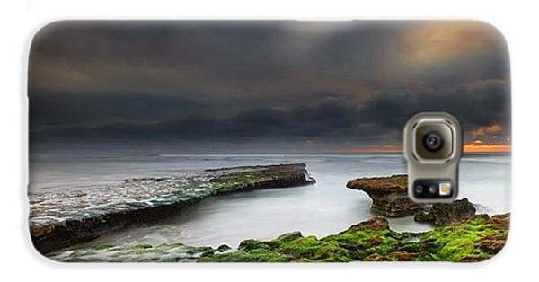 Long Exposure Of A Stormy Sunset At A Galaxy S6 Case by Larry Marshall
