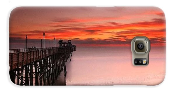 Long Exposure Sunset At The Oceanside Galaxy S6 Case by Larry Marshall