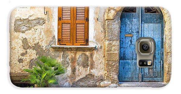 Mediterranean Door Window And Vase Galaxy S6 Case