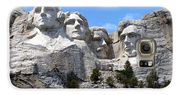 Lincoln Memorial Galaxy S6 Case - Mount Rushmore Usa by Olivier Le Queinec