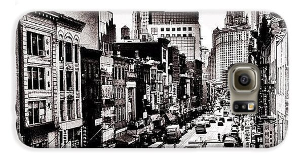 Cool Galaxy S6 Case - New York City - Above Chinatown by Vivienne Gucwa