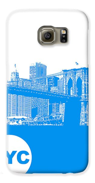 New York Poster Galaxy S6 Case by Naxart Studio