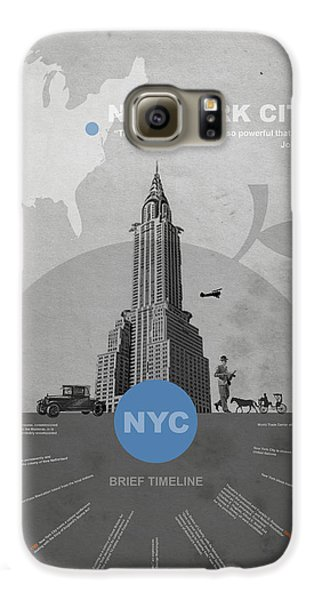 Nyc Poster Galaxy S6 Case by Naxart Studio