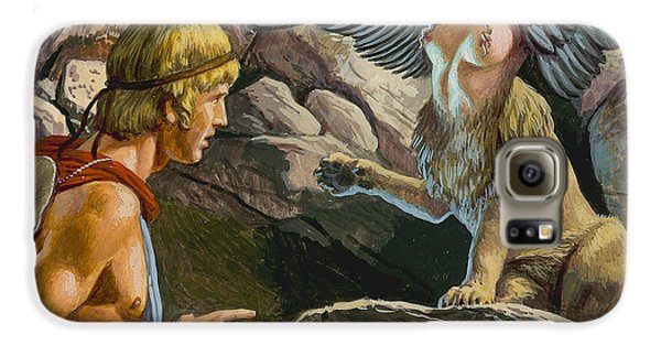 Oedipus Encountering The Sphinx Galaxy S6 Case by Roger Payne