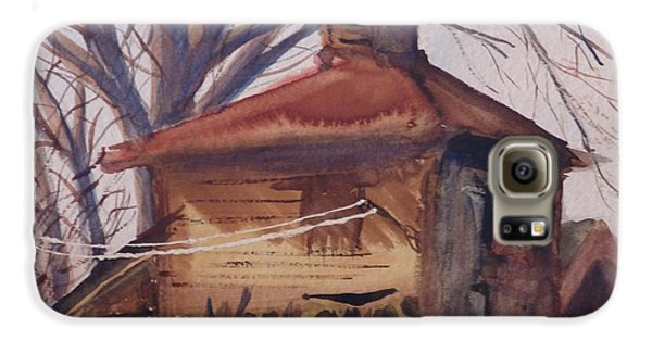 Galaxy S6 Case featuring the painting Old Garage by Rod Ismay