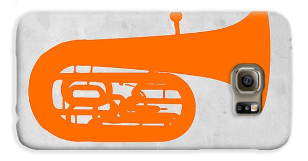 Trombone Galaxy S6 Case - Orange Tuba by Naxart Studio