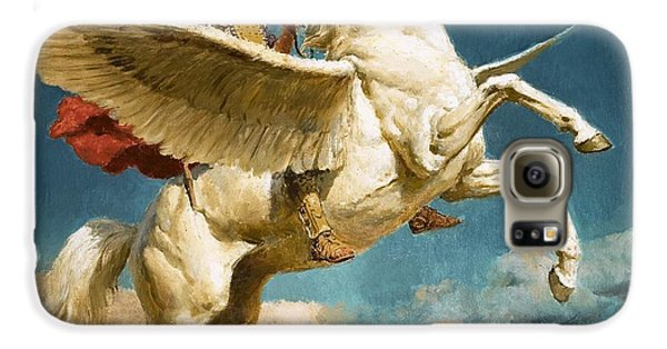Pegasus The Winged Horse Galaxy S6 Case by Fortunino Matania