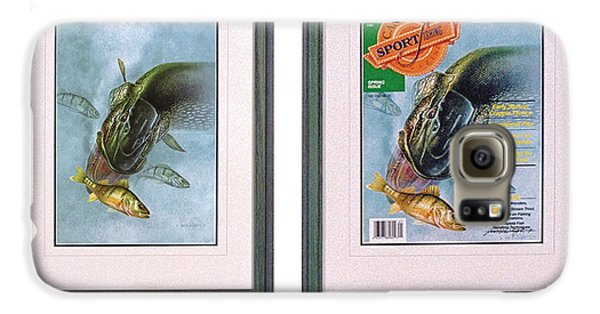 Rolling Stone Magazine Galaxy S6 Case - Pike Fishing Original And Magazine by JQ Licensing