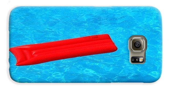 Cool Galaxy S6 Case - Pool - Blue Water And Red Airbed by Matthias Hauser
