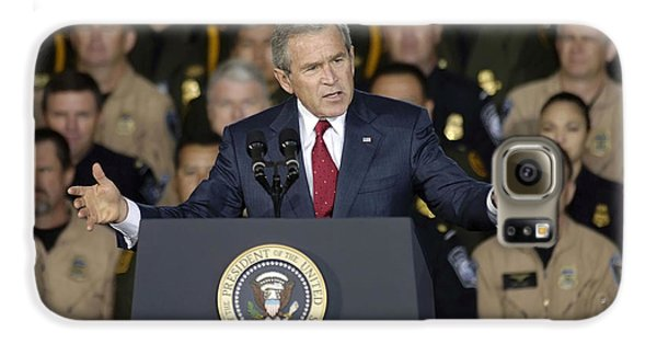 President George W. Bush Speaks Galaxy S6 Case by Stocktrek Images