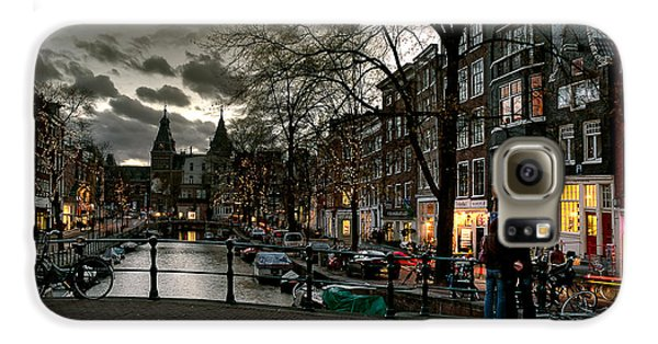 Prinsengracht And Spiegelgracht. Amsterdam Galaxy S6 Case by Juan Carlos Ferro Duque