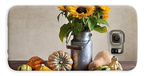 Pumpkins And Sunflowers Galaxy S6 Case by Nailia Schwarz