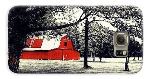 Edit Galaxy S6 Case - Red Barn by Mari Posa