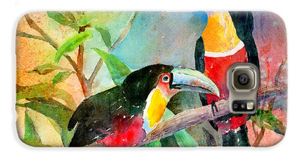 Red-breasted Toucans Galaxy S6 Case by Arline Wagner