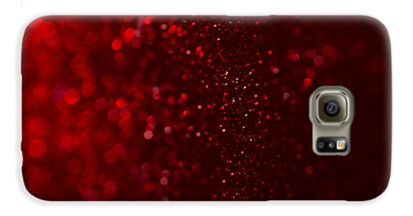 Red Sparkle Galaxy S6 Case