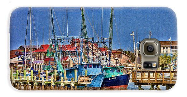 Shem Creek Shrimpers Galaxy S6 Case by Bill Barber