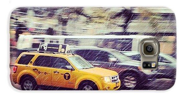 City Galaxy S6 Case - Snow In Nyc by Randy Lemoine