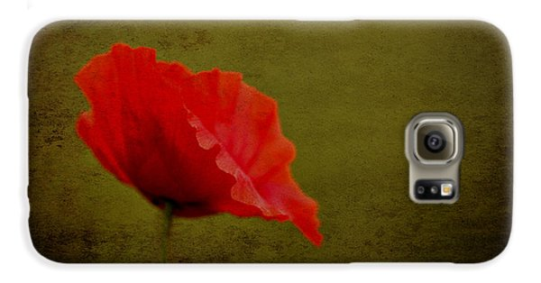 Galaxy S6 Case featuring the photograph Solitary Poppy. by Clare Bambers