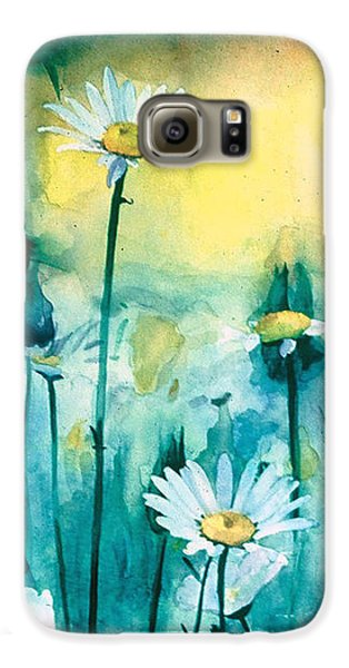 Splash Of Daisies Galaxy S6 Case by Cyndi Brewer