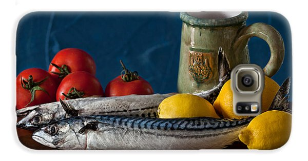 Still Life With Mackerels Lemons And Tomatoes Galaxy S6 Case by Juan Carlos Ferro Duque